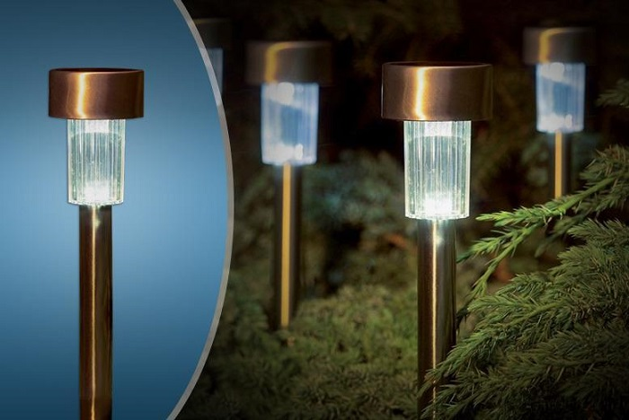 LTG002 – 1 LED Colour Stainless Steel Solar Garden Lights