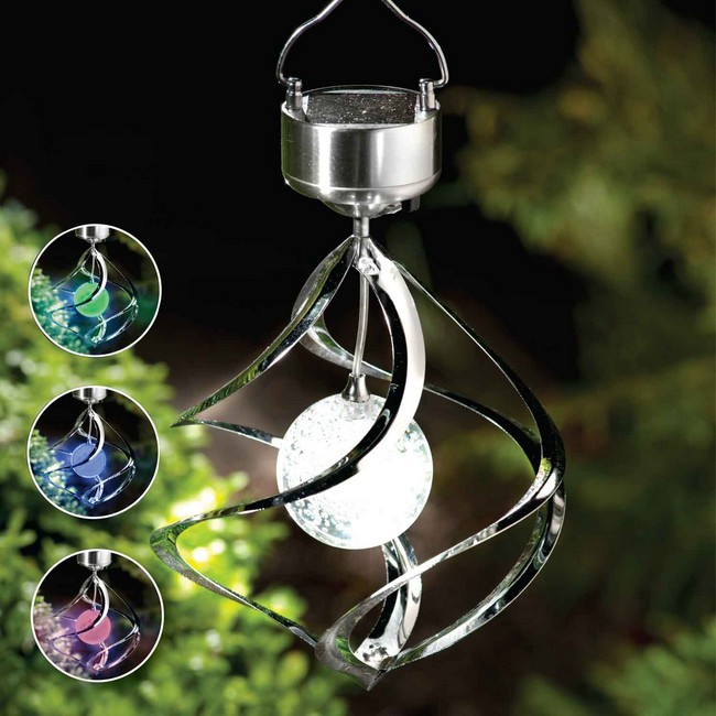 Ltw001 1 Led Color Changing Solar Wind Chime Light
